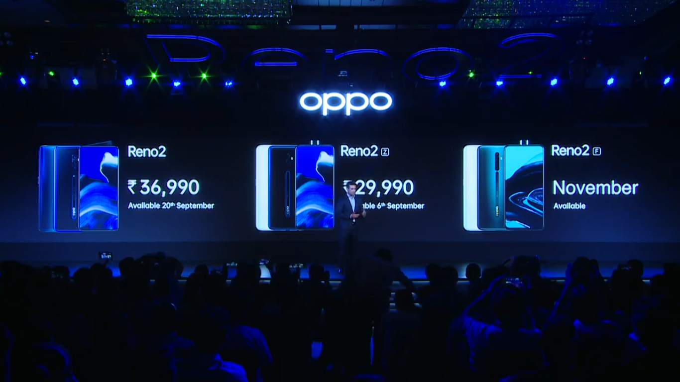 Photo of Oppo Reno 2 Price in India Set at Rs. 36,990, Reno 2Z to Retail at Rs. 29,990: Live Updates