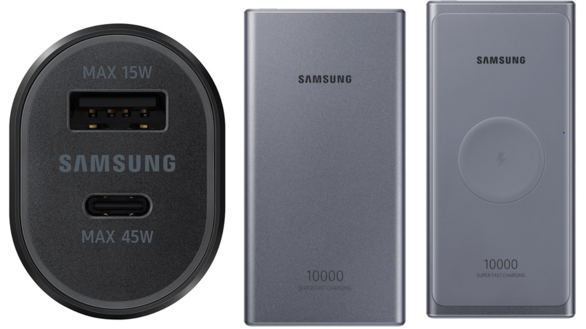 Photo of Samsung Unveils 45W Car Charger, Two 25W Power Banks; No Word on a Release Date
