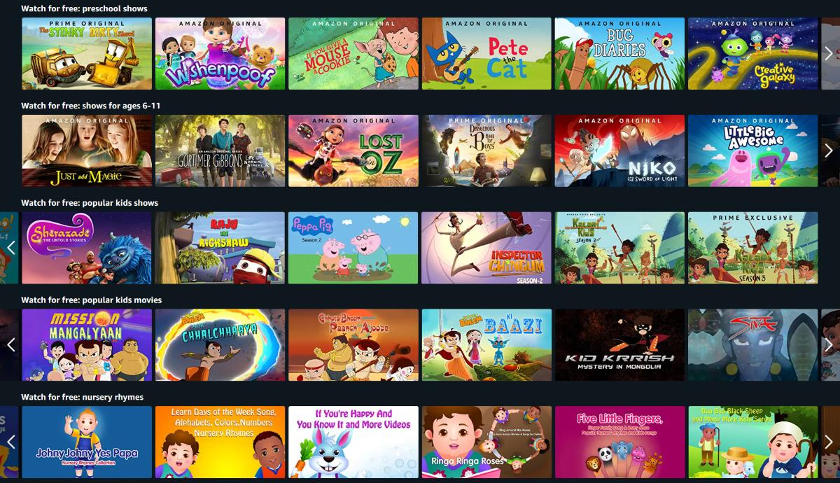 Photo of Amazon Prime Video Gives Free Access to Kids' Content to Help Parents Working From Home