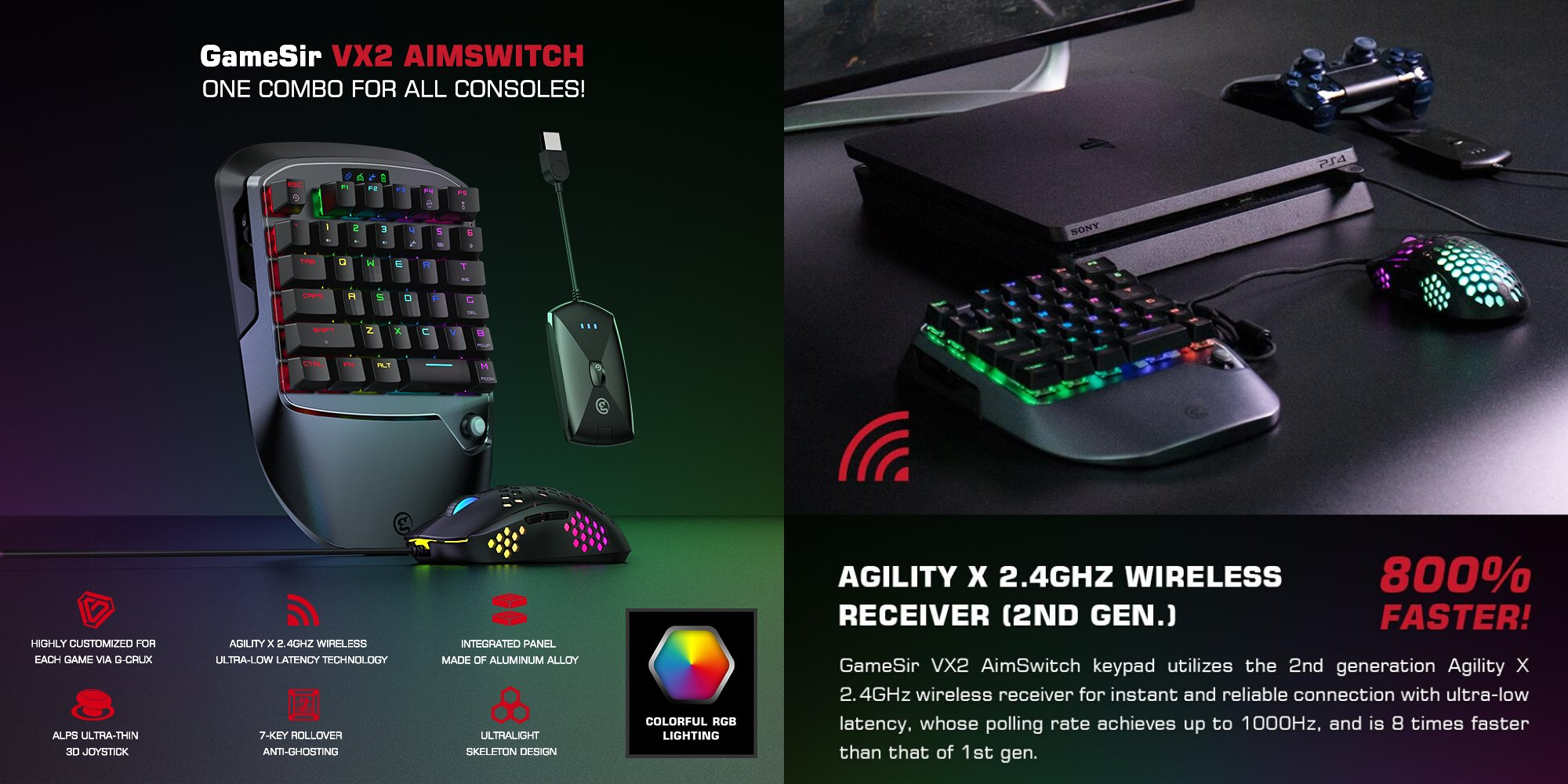 Gamesir Vx2 Aimswitch Review Mechanical Gaming Keyboard Mouse For Your Ps4 Nintendo Switch Xbox One Just Android