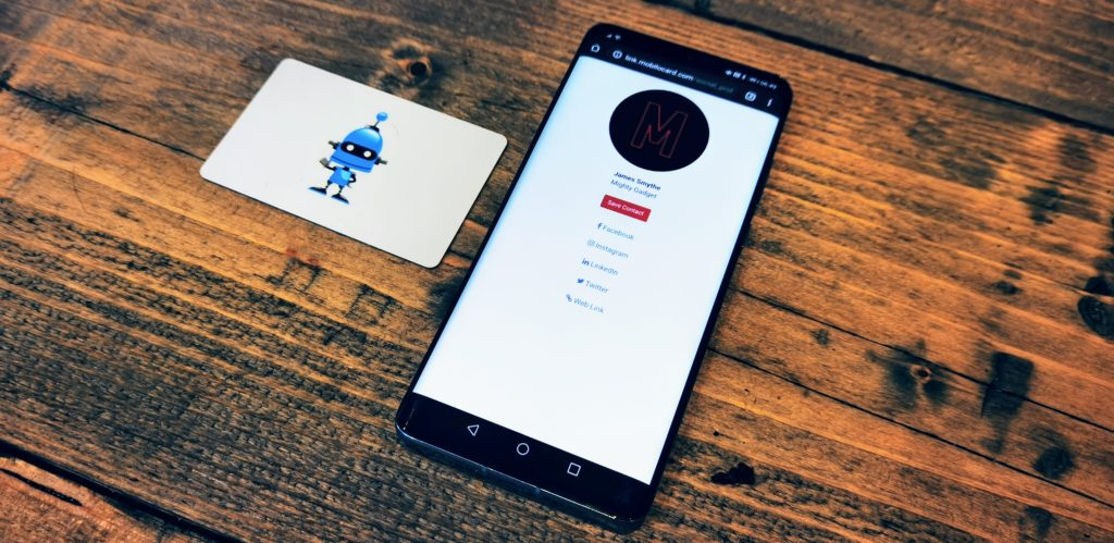 mobilo smart business card review  nfc business card with