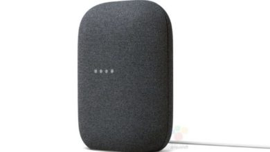 Photo of Google's New Nest Speaker in Charcoal and Chalk