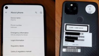 Photo of Google Pixel 5 Leaked Photos Suggest a Pixel 5s Variant With 5G